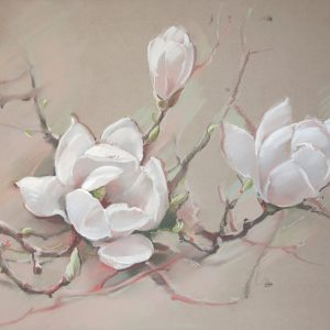 Белая магнолия White magnolia 65×100. 2010
