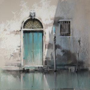 Венеция 1. Бирюзовый Venice 1. Turquoise 41×41. 2015