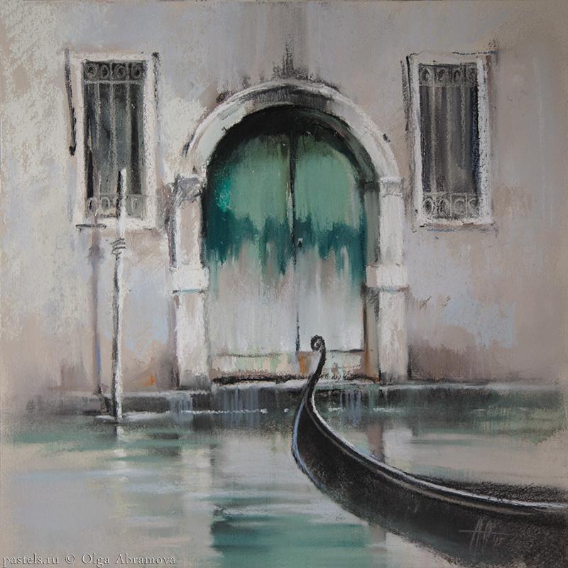 Venice 4. Venetian green 41x41. 2015