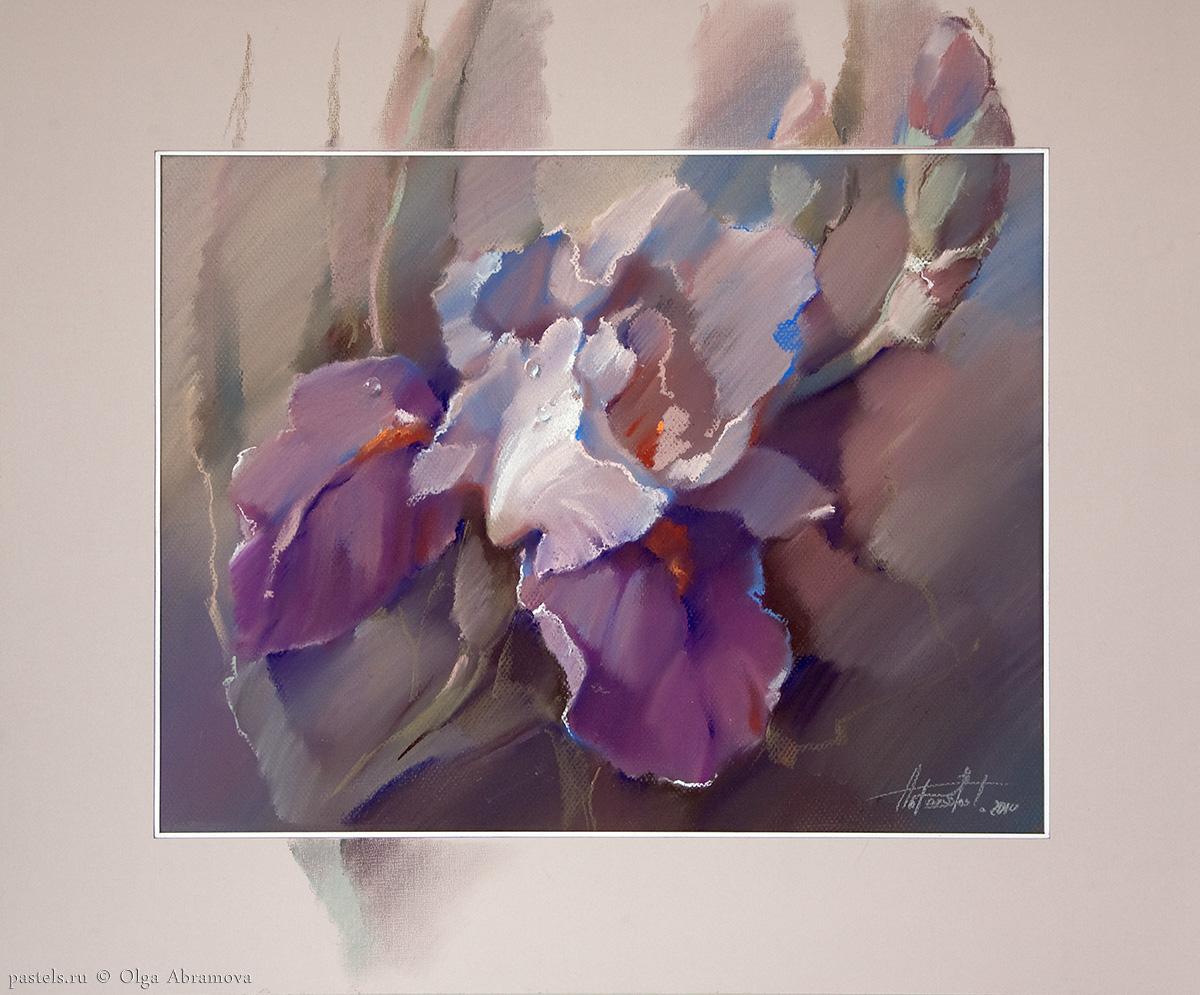 Iris and cobalt 50×60. 2010