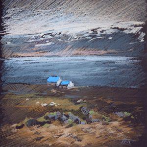 Исландия. Синий Iceland. Blue 32×31. 2014