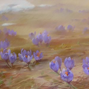 Крокусы Crocuses 45×100. 2006