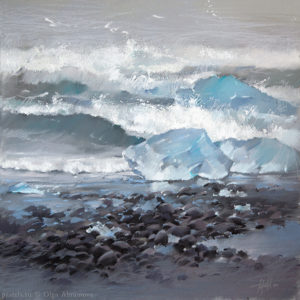 Льдины и океан Ice floes and The Ocean 50×50. 2014