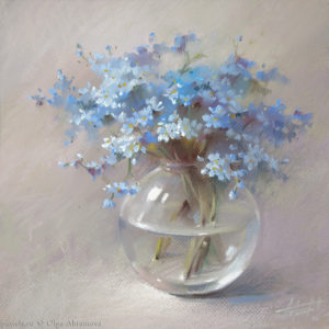 Forget-me-nots 40×40. 2014