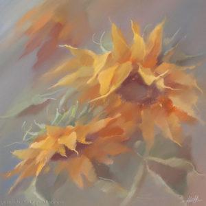 Подсолнухи Sunflowers 40×40. 2003