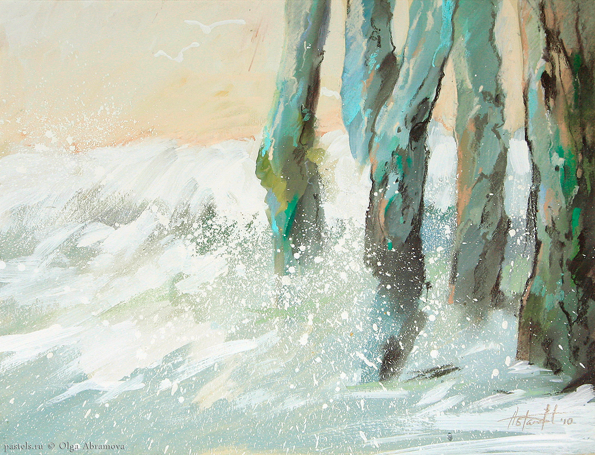 Surf in Saint Malo 50×60. 2010