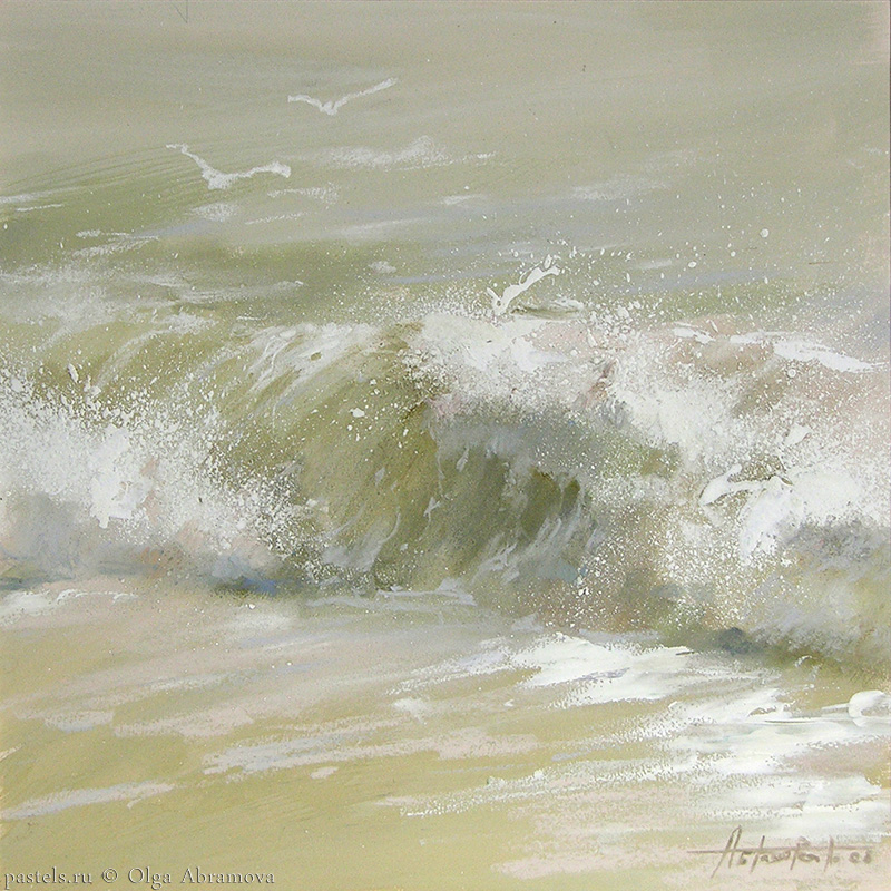 Сold waters of Normandy 53x53. 2008