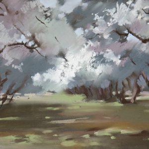 Яблоневый сад 1 Apple garden 1 34×44. 2012
