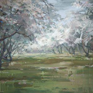 Яблоневый сад  Apple garden 100×144. 2012