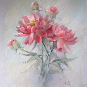 Coral peony, 65×60, 2016