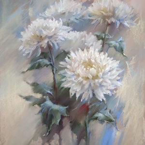 Снежные хризантемы 81×65. 2016
