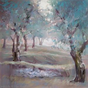 Olive trees of Verona 48×48. 2017