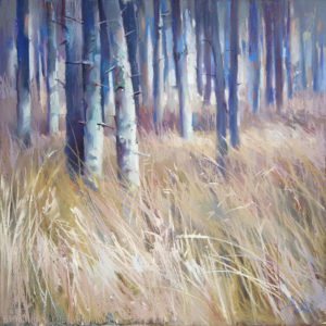 Лес. Охра 48×48. 2017 (на выставке в Girault, France)