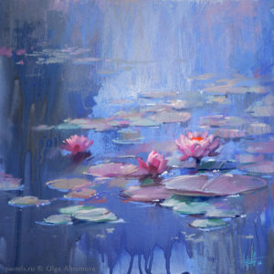 Water lilies 01. 40×40. 2017