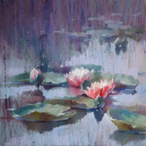 Water lilies 02. 40×40. 2017