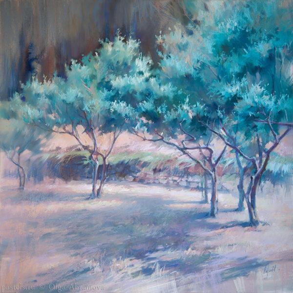 Olive trees. Vantebren 80×80. 2017