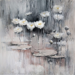 Pond. Water Lilies 70×70. 2017
