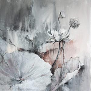 Pond. Lotuses 70×70. 2017