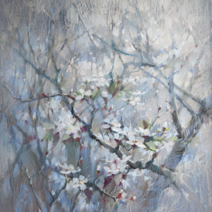 Весна. Голубой 80×70. 2018