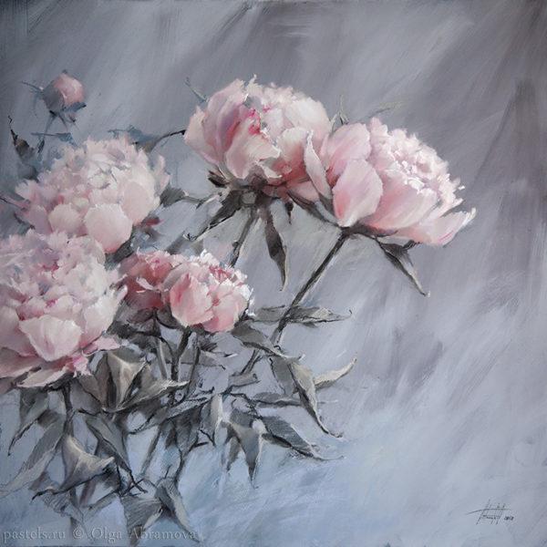 Хрустальный розовый 70×70. 2018 (на выставке во Франции)