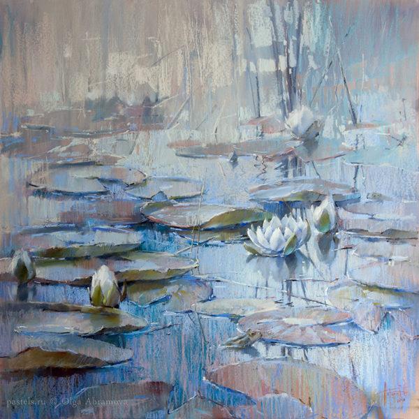 Тихое озеро 100×100. 2018 (на выставке в Москве)