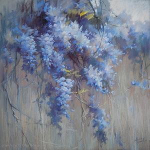 Голубая глициния 70×70. 2019