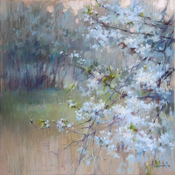 Cherry trees. Dusk 50×50. 2019