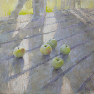 Old house. The apples 70×70. 2019