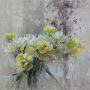 Lemon-yellow spring 70×70. 2020