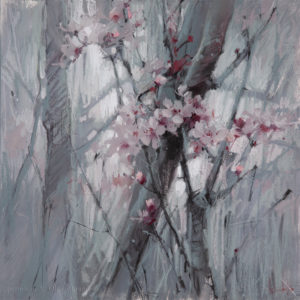 Early almonds 40×40. 2020