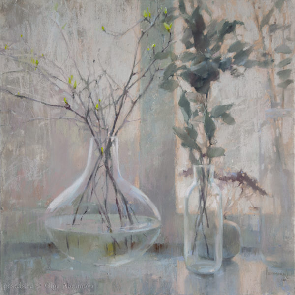 Old eucalyptus and spring 70×70. 2020