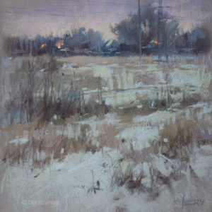2020 View 3. Winter twilight 30×30. 2121